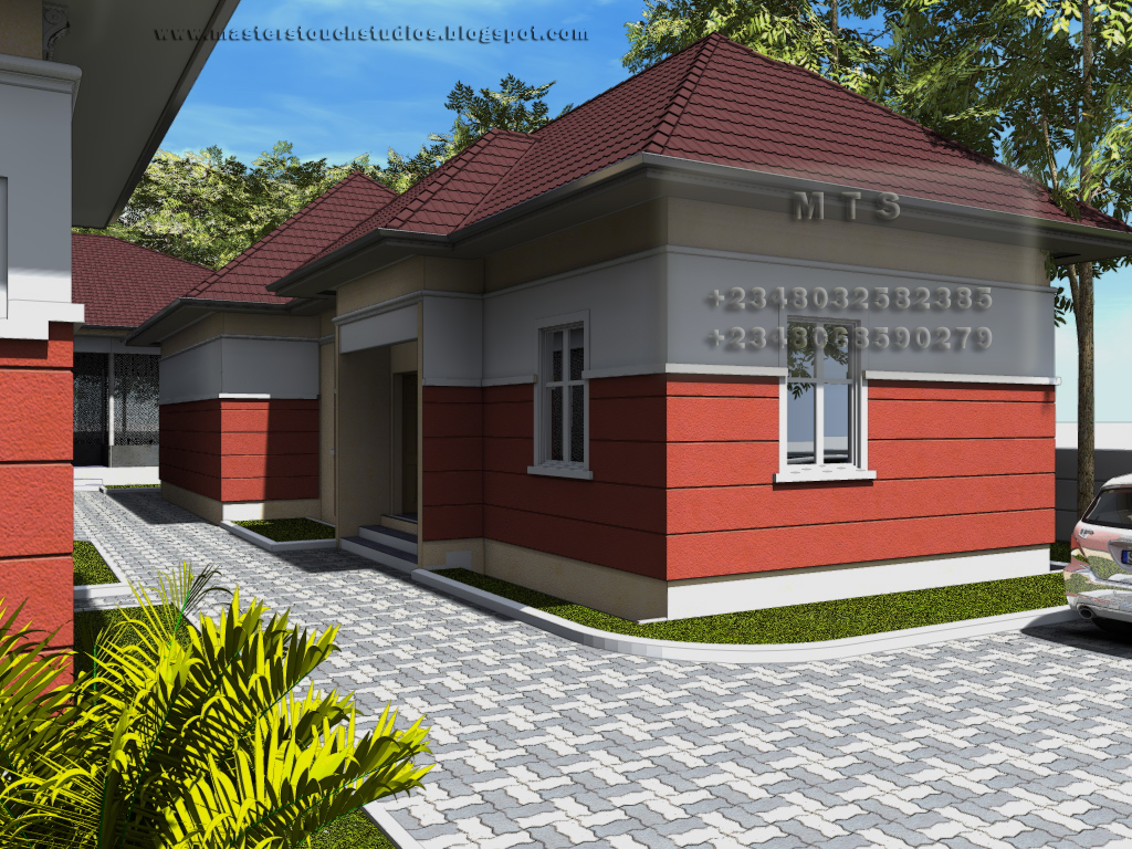 Poultry design 3 bedroom bungalow plus a boys quarters for 3 bedroom design