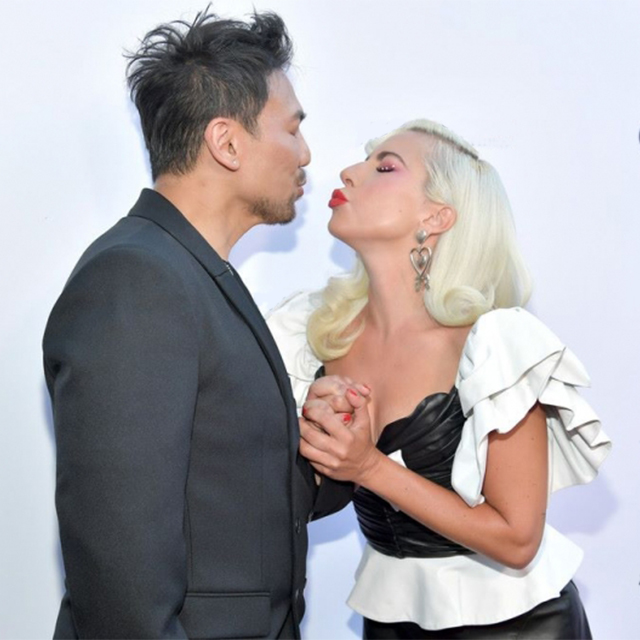 Lady Gaga & Frederic Aspiras Arrive at Fashion Los Angeles Awards
