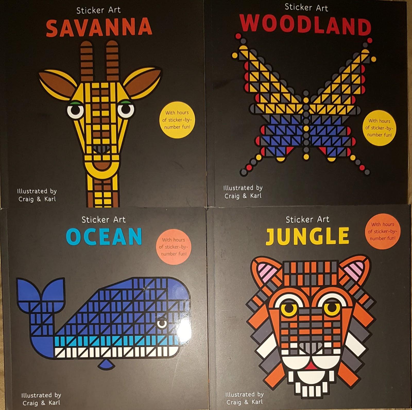 Sticker Art Books Giveaway