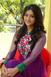 Actress Pooja Jhaveri Latest Stills in Purple Salwar Kameezt at Dwaraka Success Meet  0179.JPG