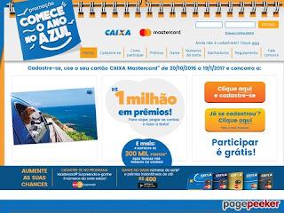 Promoção Comece o Ano no Azul- Caixa e Mastercard