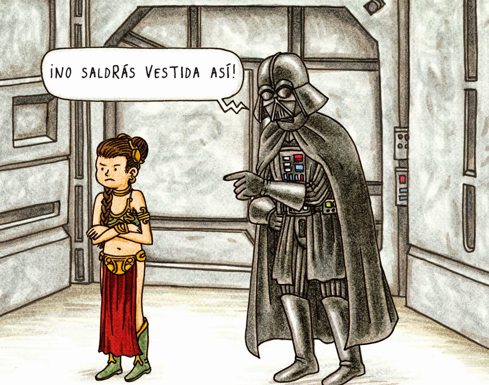 Darth Vader y su princesita  de Jefrey Brown, edita Planeta comic Star Wars comic humor