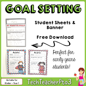 goal setting, student, goal, teacher, teachers, teachers pay teachers, semester, year, goal