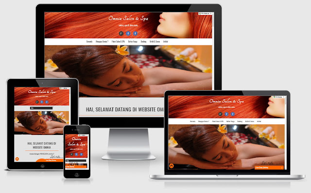 Website Omnia Salon & SPA
