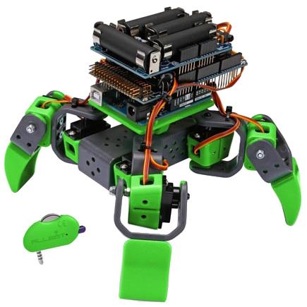 kit allbot vr408 un robot 4 pattes arduino mchobby le blog. Black Bedroom Furniture Sets. Home Design Ideas