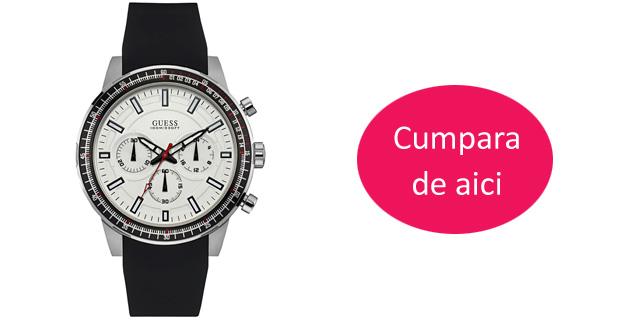 Ceas dama Guess-W0149L6 casual negru cu alb model nou