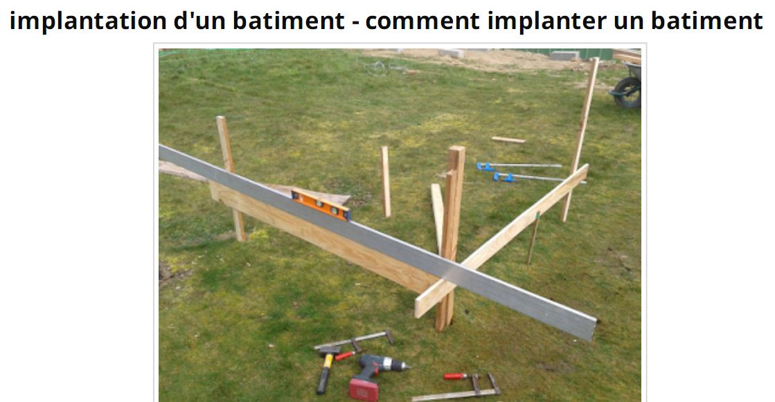 Implantation b timent d finition et tapes 3 fichiers for Fonction d un batiment