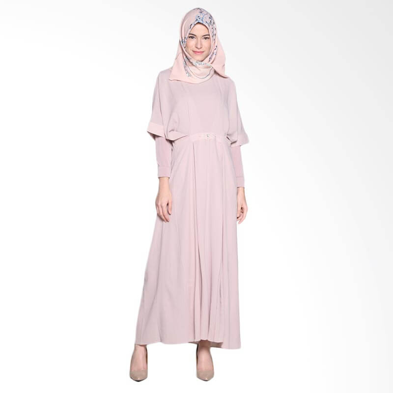 Ria Miranda Mora Dress Muslim - Dusty Pink