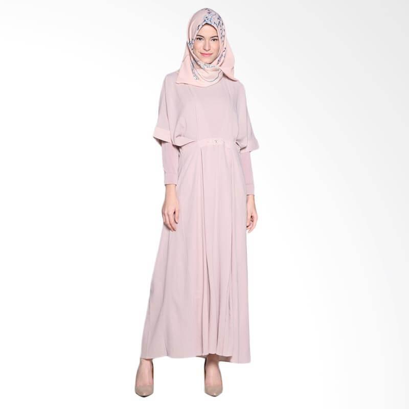 Ria Miranda Mora Dress Muslim - Dusty Pink