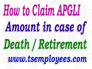 How to Claim APGLI Amount Death / Retirement in AP Telangana