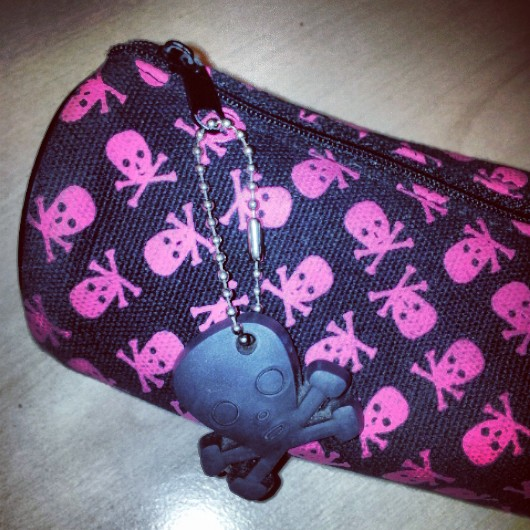 pencil case, skull and crossbones, National Stationery Week