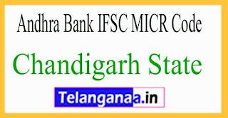 Andhra Bank IFSC MICR Code Chandigarh State