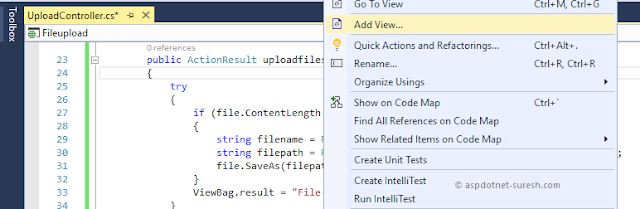 Add new view in asp.net mvc application