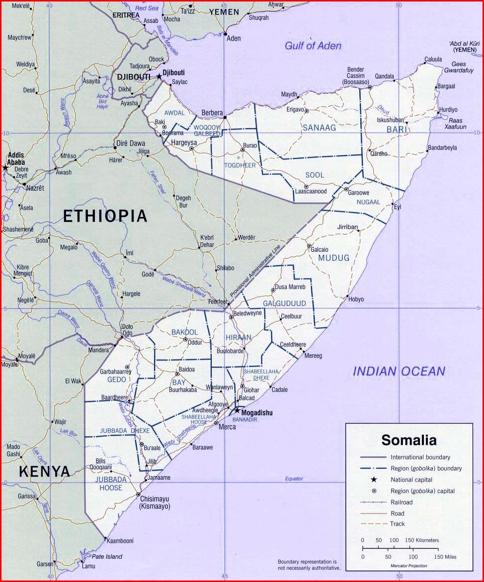 √ Somalia Map Africa | Sejarah and World Maps on