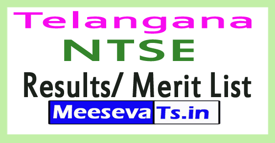 Telangana NTSE Exam Results / Merit List Nov-2017