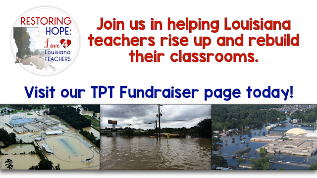 Louisiana teachers have lost so much. What a better way to help out, even when you are miles away than through a TPT fundraiser!
