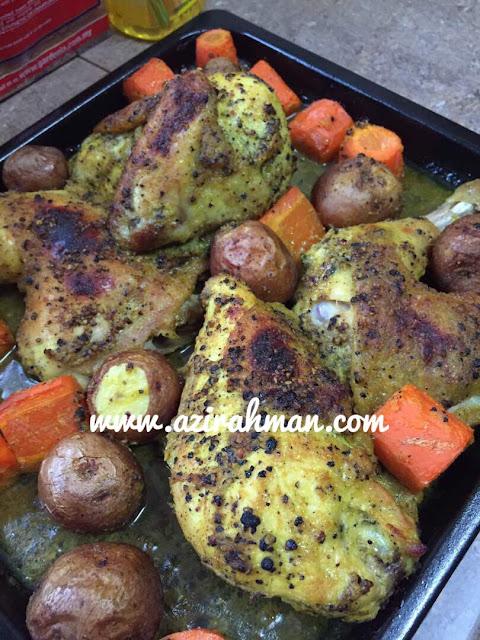 resepi mudah, ayam bakar sedap, ayam panggang untuk keluarga mudah disediakan, ayam panggang , roasted chicken