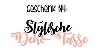 DIY-Geschenkidee N4: Stylische Deko-Tasse
