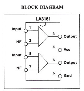 LA3161 based Preamplifier circuit with explanation