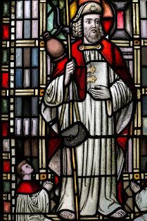 Heiliger Jakobus auf Kirchenfenster