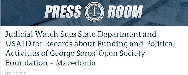 Soros in Mazedonien finanziert - State Department und USAID angeklagt