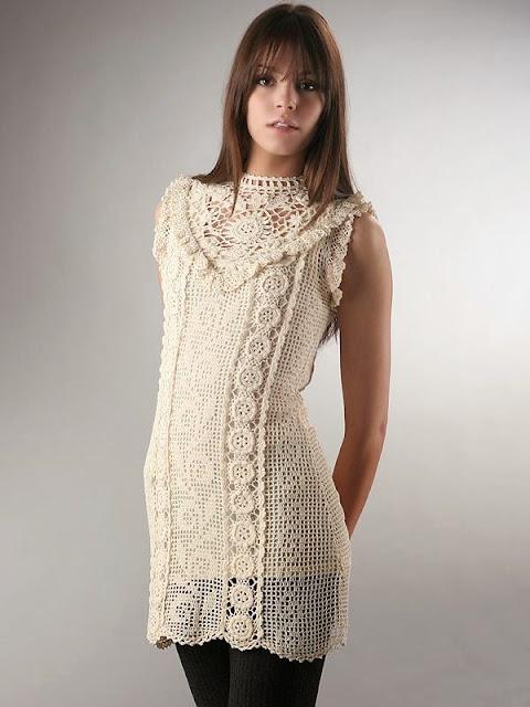 wzór sukienki szydełkiem