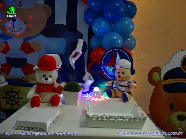 Mesa decorada infantil provençal tema Ursinho Marinheiro