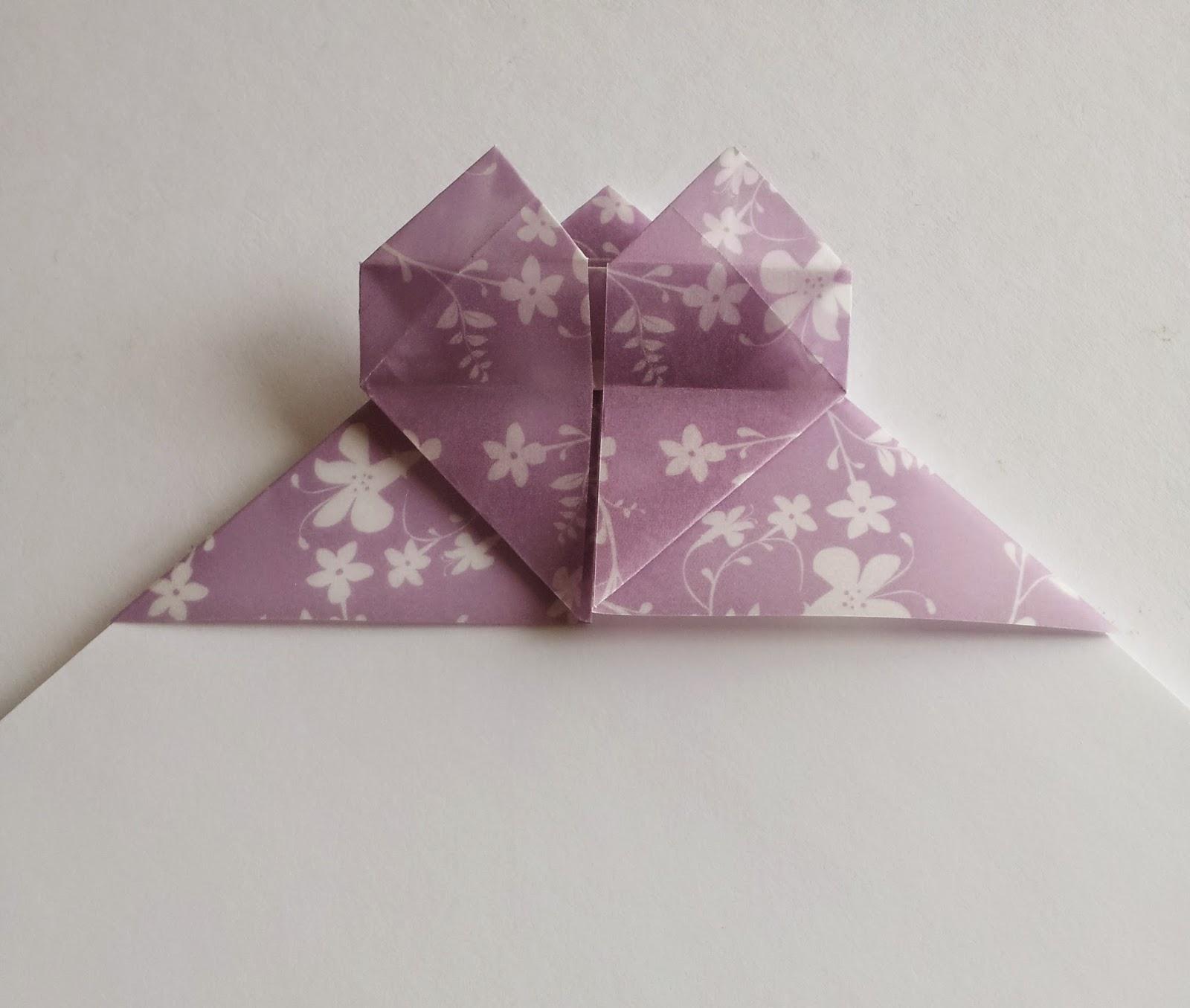 DIY Marque-page Origami Cœur