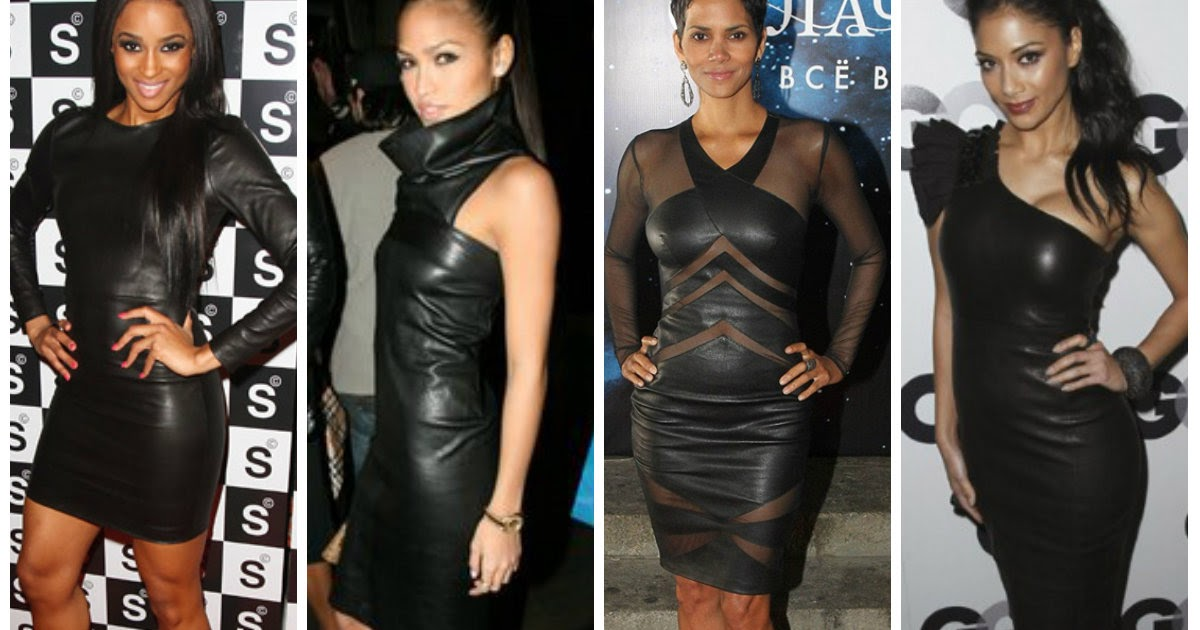 c8ed70da66ea All about Leather Style: Perfect leather dress
