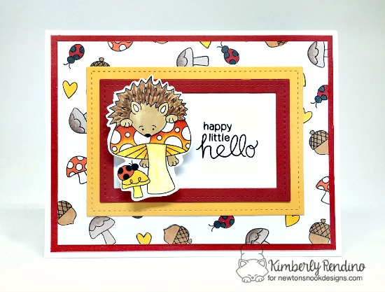 Hedgehog Card by Kimberly Rendino | Hedgehog Hollow Stamp set by Newton's Nook Designs #newtonsnook #hedgehog