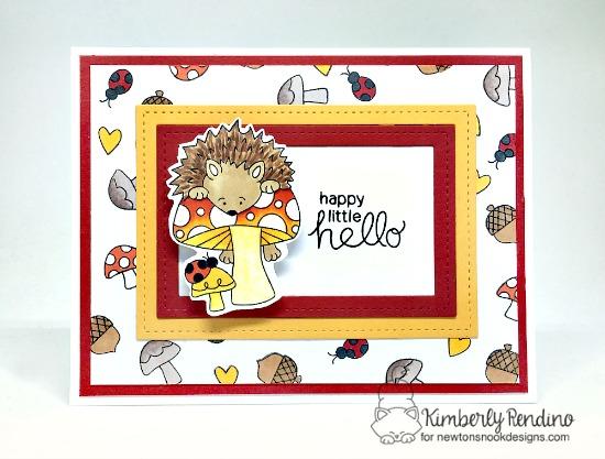 Hedgehog Card by Kimberly Rendino | Hedgehog Hollow Stamp set by Newton's Nook Designs #newtonsnook #hedgehog