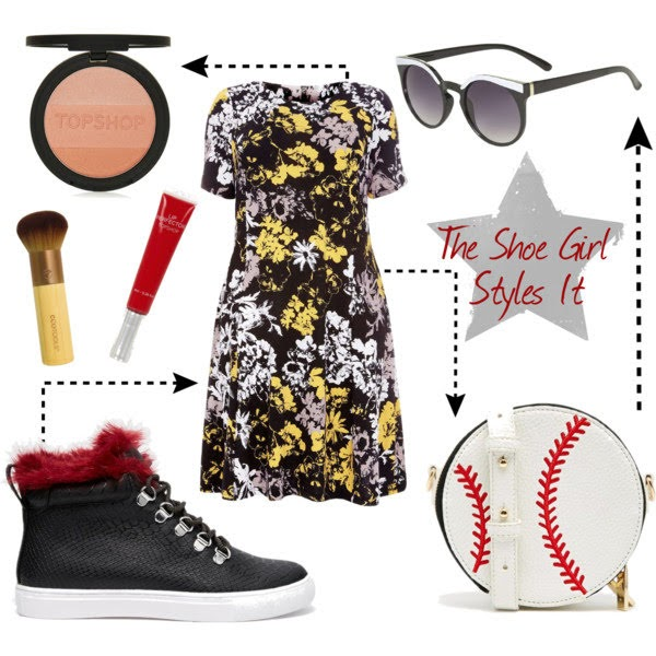 Polyvore outfit set containing ASOS trainers and plus size clothing