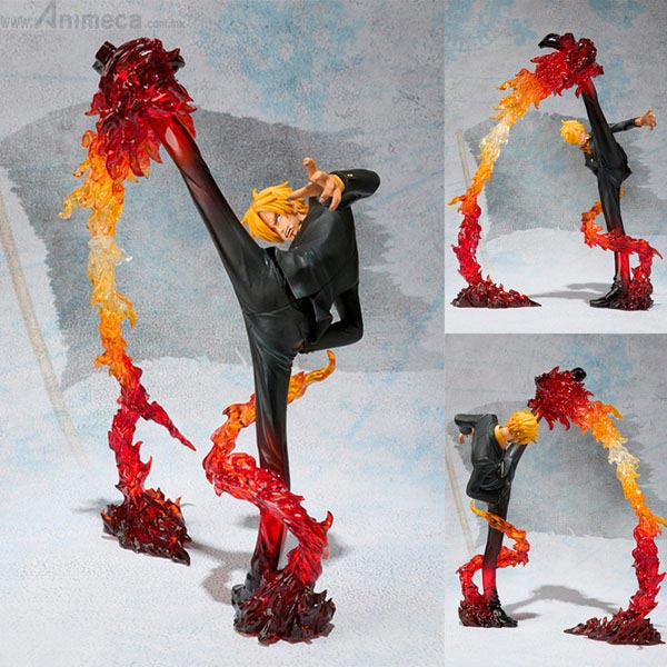 FIGURA SANJI Battle Ver. Diable Jambe Flambage Shot Figuarts ZERO ONE PIECE