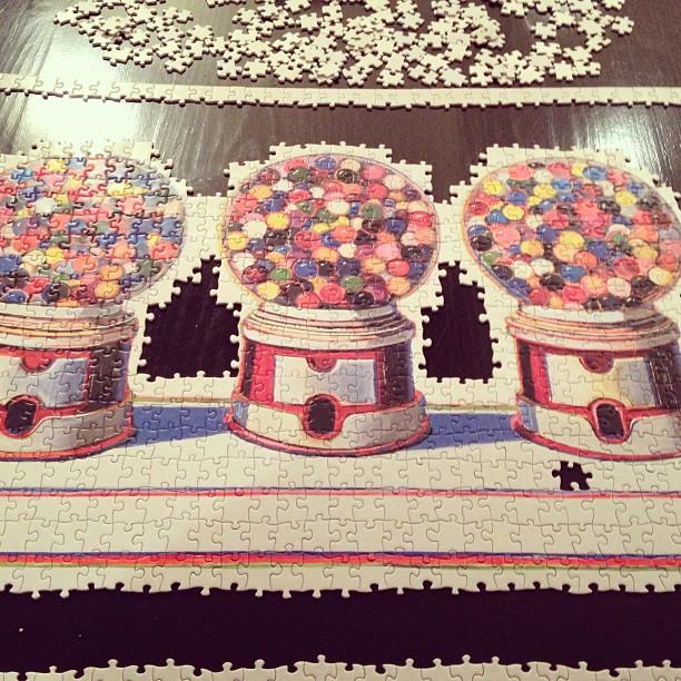wayne thiebaud gumball machines puzzle