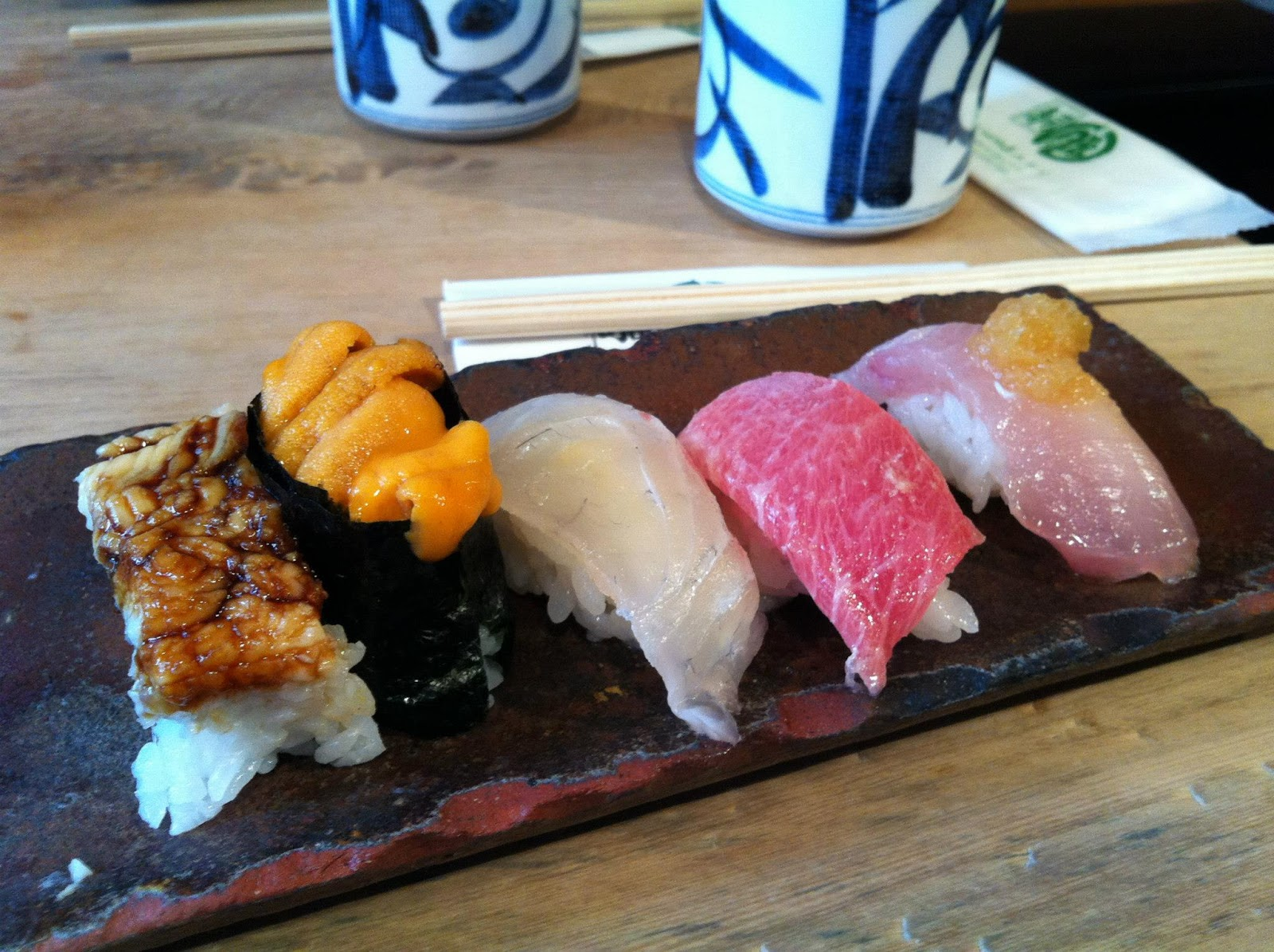 Midori - a set for sushi: the dish should be not only tasty, but also beautiful