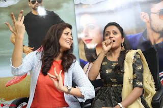 Actress Suma in Black Salwar Suit and Anusuya in orange Dress at winner movie press meet part 2 February 2017 (89).JPG
