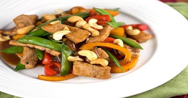 Pork Stir-Fry With Sugar Snap Peas And Cashew Recipe