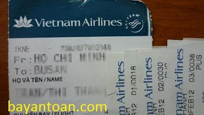 Đừng nên đưa hình ảnh vé máy bay lên mạng