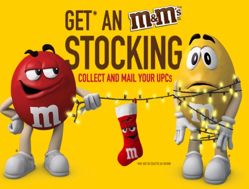 M&Ms Free Christmas Stocking
