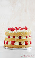 Layer cake - nata con frutos rojos