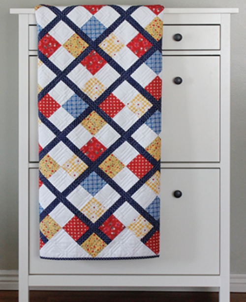 Preppy Patchy Argyle Quilt - Free Pattern