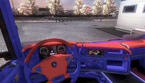 Scania Red and Blue Interior