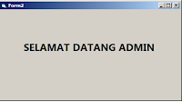 berhasil login sebagai admin di vb 6.0 dan mysql