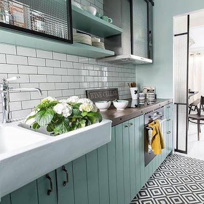 kitchen set warna putih yang bagus