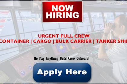 Ordinary Seaman(6x), Fitter(5x), Messman, Electrician, Chief Engineer For Container Vessels