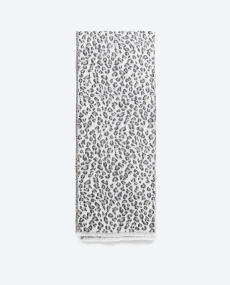 Zara Animal Print Scarf