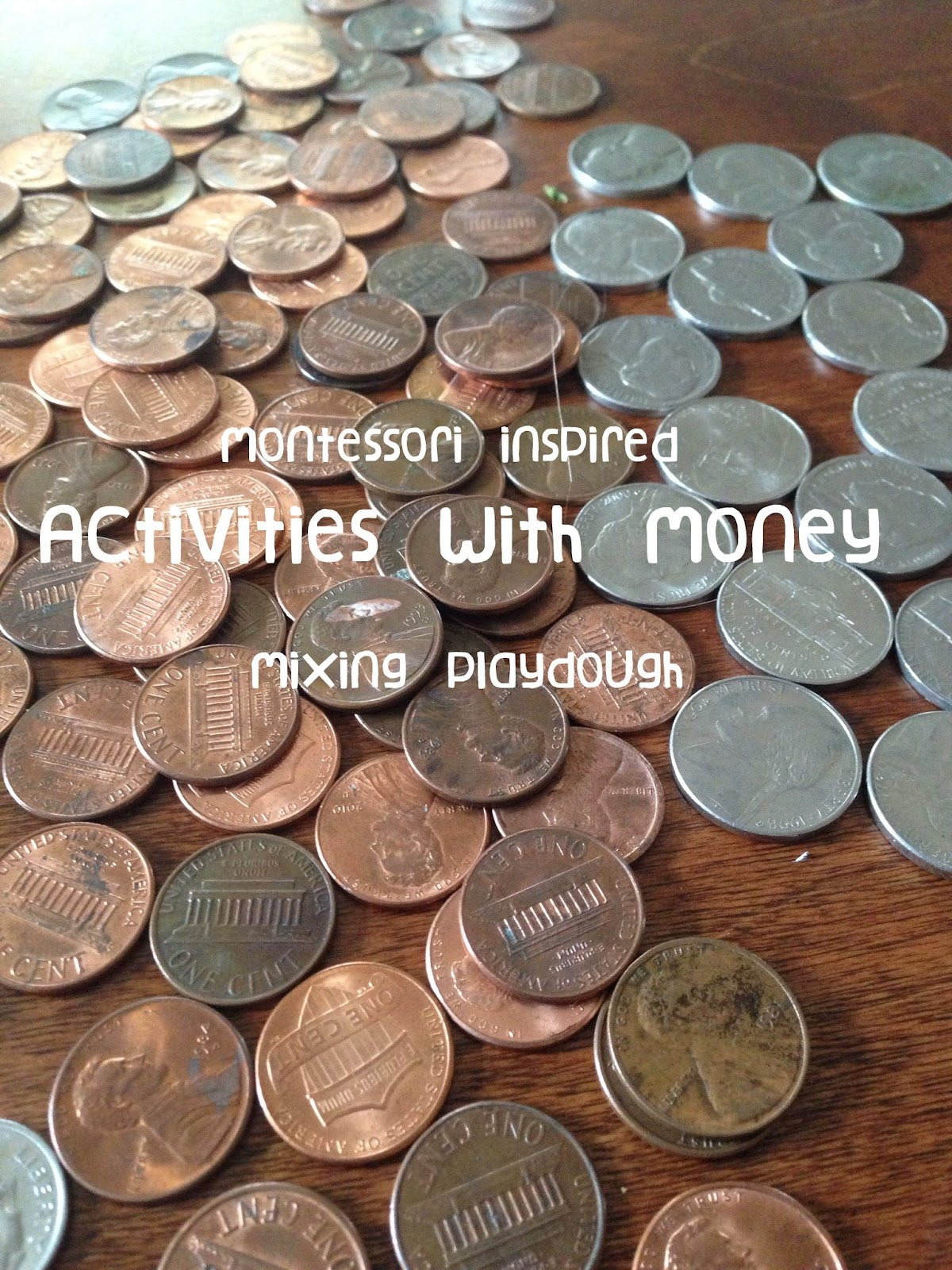 Mixing Playdough Activities With Money Coins And Dollar