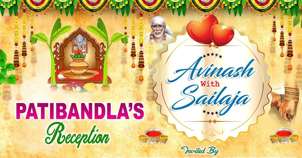 indian wedding marriage flex design psd template free