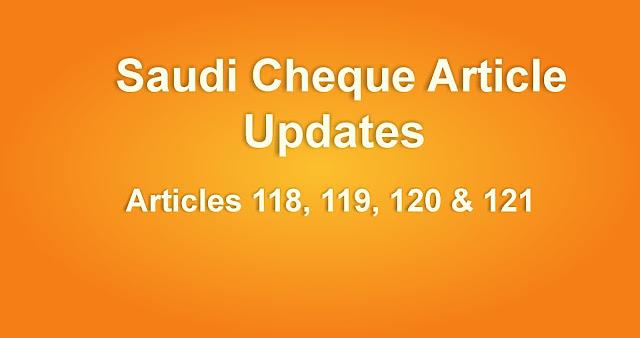 Saudi Cheque Article updates