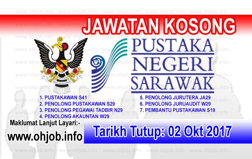 Jawatan Kerja Kosong Pustaka Negeri Sarawak logo www.ohjob.info oktober 2017